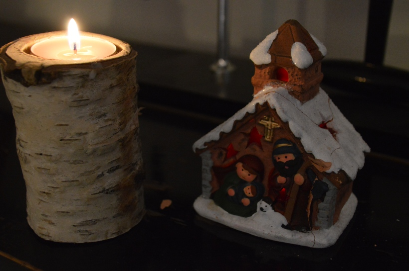 świecznik z brzozy