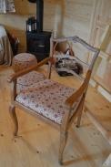 babciny fotel po renowacji