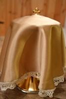 jedwabny welon na puszkę z koronką