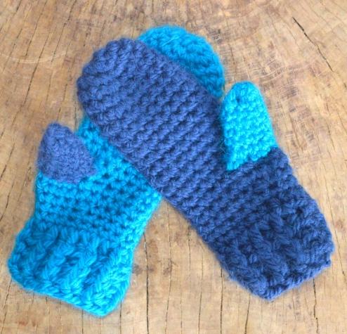 wełniane rękawiczki szydełkowe