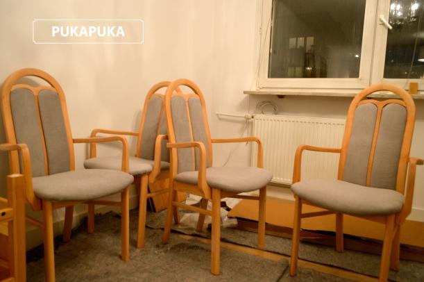 krzesła po metamorfozie