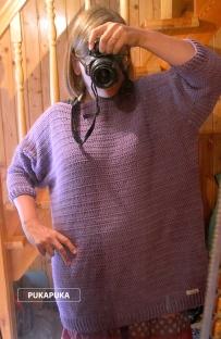 sweter oversize na szydełku