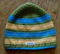 szydełkowa czapka w paski