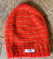 szydełkowa czapka dziecięca w paski alpaka