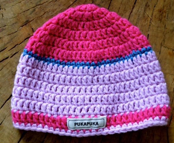 szydełkowa czapka dziewczęca