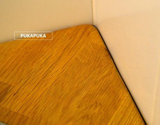drewniana pokrywa spłuczki