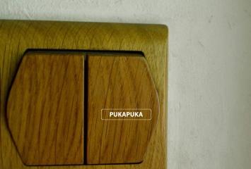 drewniany włącznik