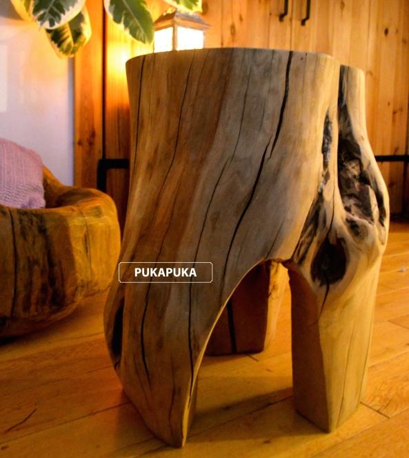 stołek z pnia