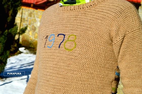 sweter wełniany męski