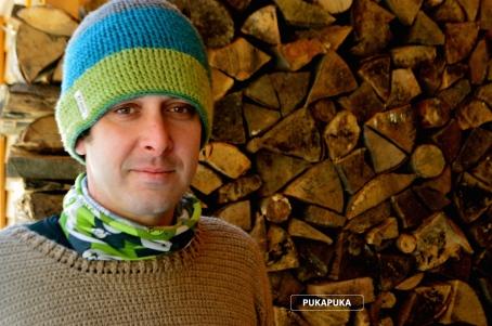 zielona czapka wełniana