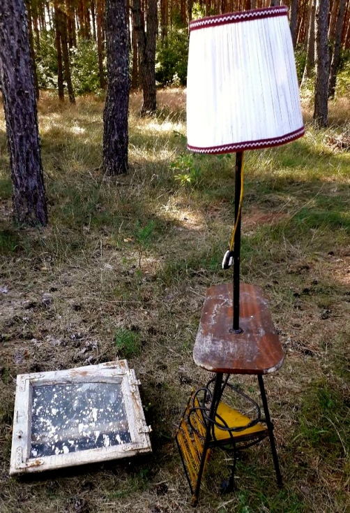 lampa stojąca vintage